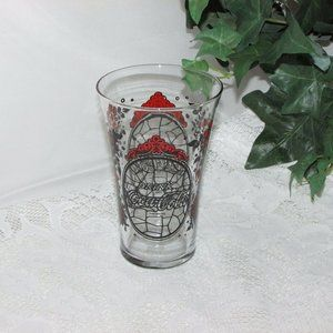 COCA COLA Soda Fountain Beverage Glass Red/Black